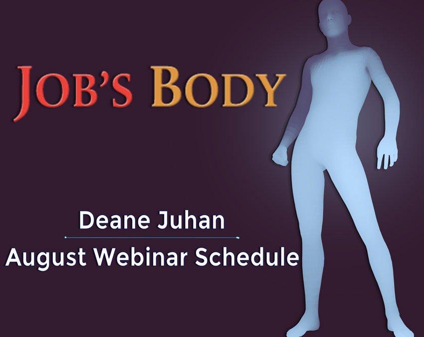 Deane Juhan August 2020 Webinars