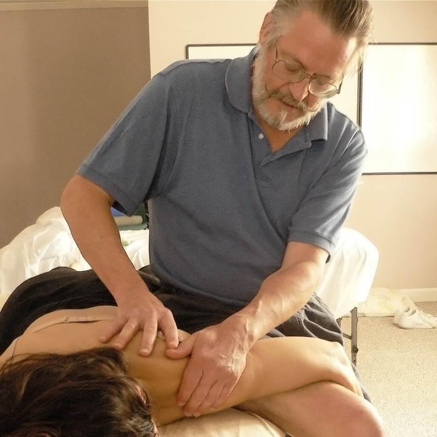 Deane Juhan - Shoulder Girdle - Deane Juhan Massaging A Woman