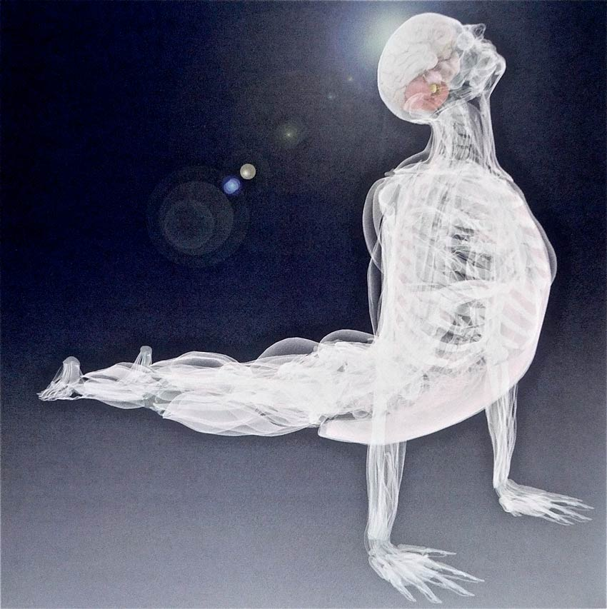 Upcoming Deane Juhan Webinars - Transparent image of a man in a Yoga Position